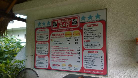 Burger Stop: pricelist