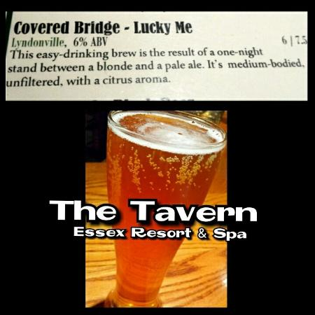 The Essex, Vermont's Culinary Resort & Spa: I enjoyed this beer at the Tavern with the best chicken wings in Vermont! !
