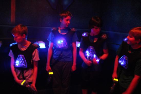 Mounds View, MN: Laser tag instructions