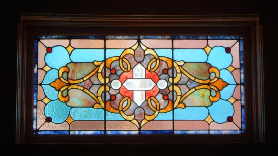 Council Grove, KS: Stained-glass window