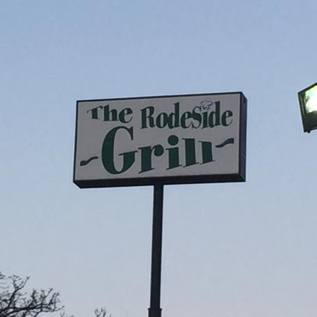 Exterior signage, Rodeside Grill, Windsor Wisconsin, Menu options,