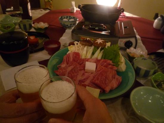 Nishiya: 夕食 すき焼き