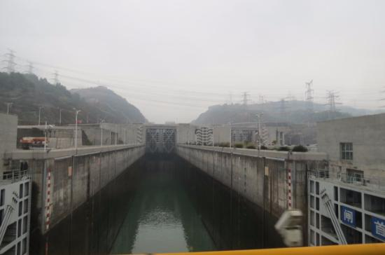 Chongqing Three Gorges Dam : one of the locks