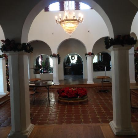 San Clemente, CA: Original living room with imported chandelier.