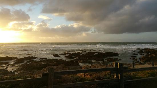 Asilomar State Beach at sunset.