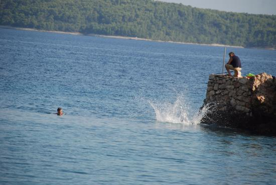 Hvar Adası, Hırvatistan: rock diving