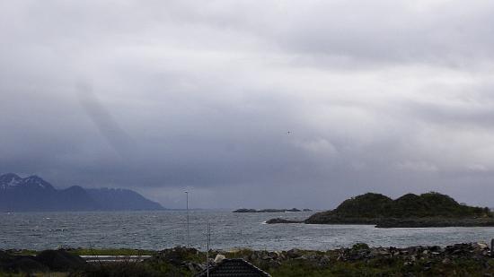 Melbu, Norwegen: Zimmeraussicht Richtung Nordatlantik (Fiskeböl)