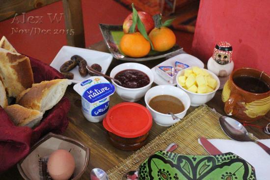 Dar Rita, individually served breakfast
