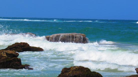 Swansea, Australien: wave on rocks