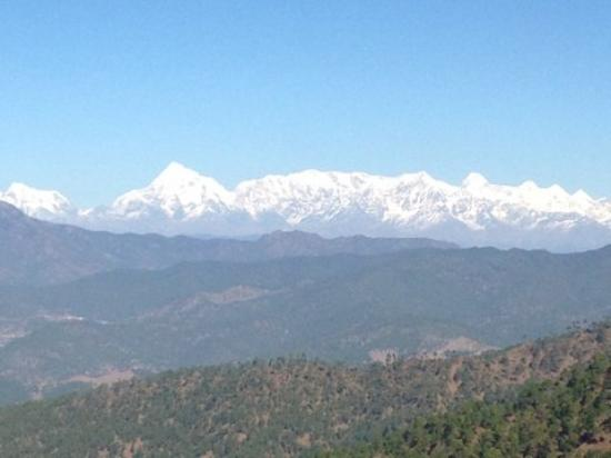 View of Himalayan mountain range from Ranikhet - Picture ...