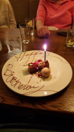 The Longs Arms: Complimentary Birthday Celebration Dessert