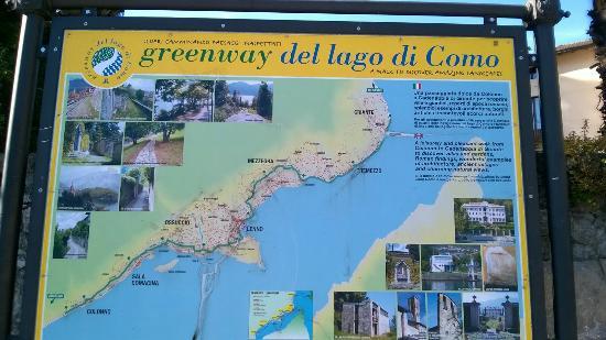 Colonno, Italia: Greenway del Lago di Como