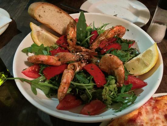 Spiga D'oro: Салат с креветками