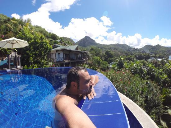 Port Glaud, Seychellene: the pool