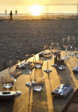 Nina a la plage: Terrasse
