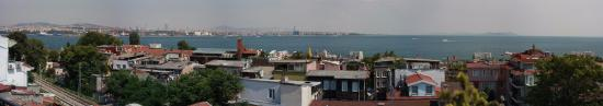 Avicenna Hotel: Very wide View from balcony and also compressed as the original is over 330mb