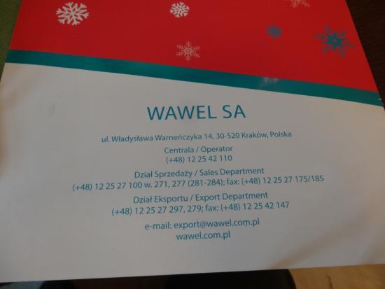 Restaurant at Wawel Royal Castle: address
