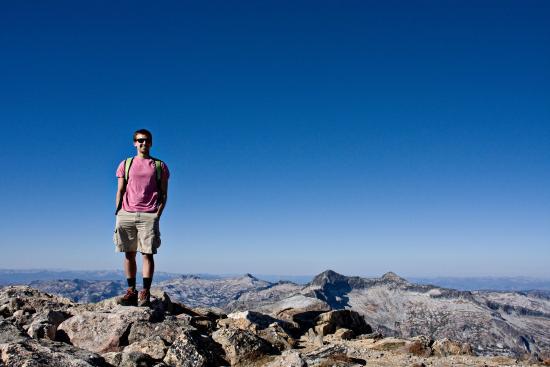 สตีเวนสวิลล์, มอนแทนา: My  husband at the top of St. Mary's Peak