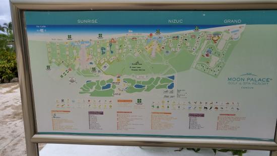 Resort Map  Picture of Moon Palace Cancun Cancun  TripAdvisor