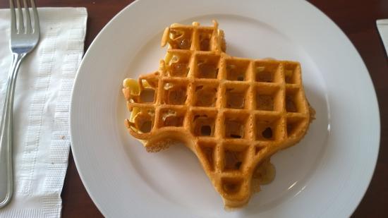 Staybridge Suites McAllen: Texas State shape waffle