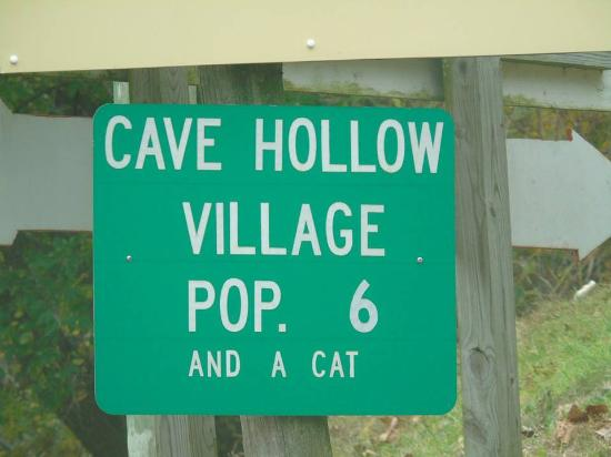 Mark Twain Cave and Cameron Cave: If you see this sign, you've come to the right place,