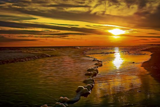 Fripp Island, Caroline du Sud : Sunset on the Beach