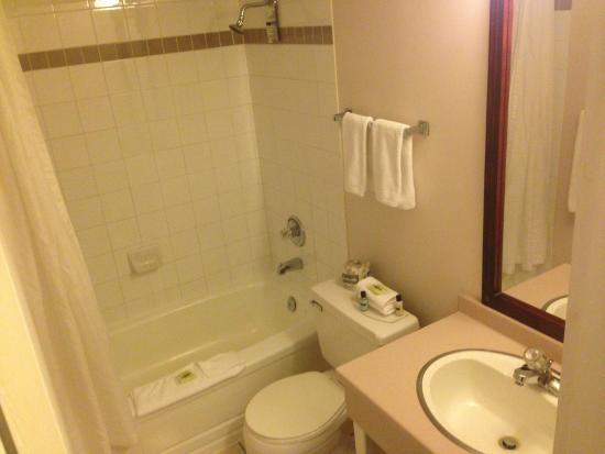 Sandman Inn & Suites Kamloops : Bathroom by door