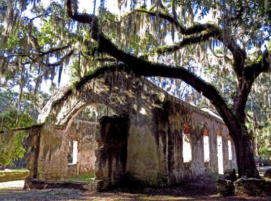 Saint Helena Island, Carolina del Sur: back doorway Chapel of Ease