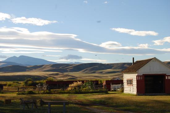 Deer Lodge, MT: The garden and chicken coops.