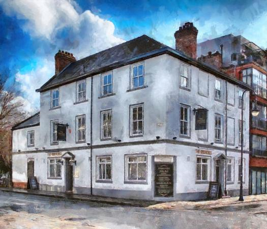 The Oxnoble Manchester. Painting © 2014 Peter Topping, Paintings from Pictures.