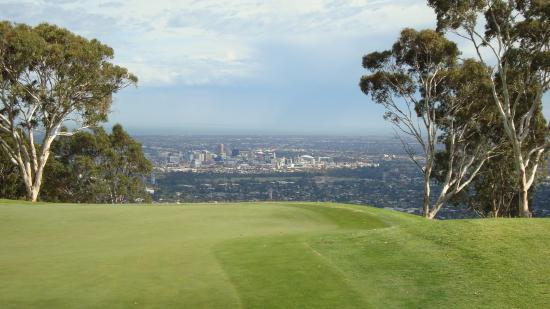 Glen Osmond, Australia: Adelaide at the end of the first 9 holes.