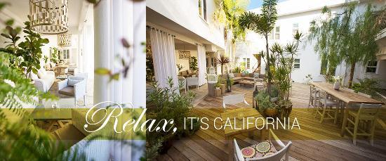 Hotel Beverly Terrace: Garden Courtyard