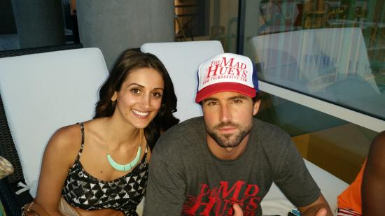 W Dallas Victory Hotel: Friend & Brody Jenner at the W pool area