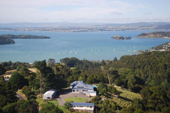 Aerial View of Kauri Villas & Whangarei Harbour
