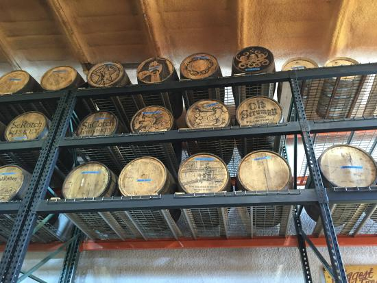 Valatie, NY: They illustrate each barrel with a unique design, so cool!