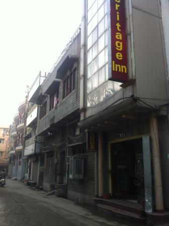 Hotel Heritage Inn Amritsar: lane where hotel situated