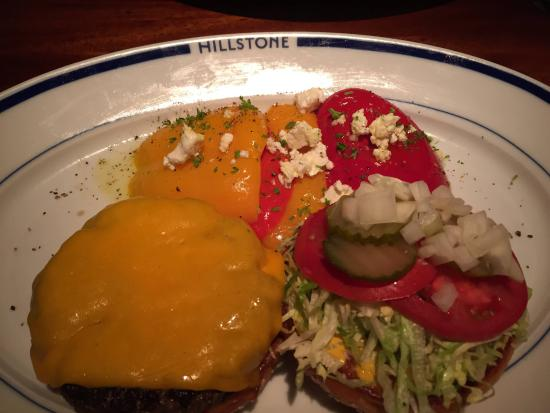 Hillstone: Burger with Peppers and Feta