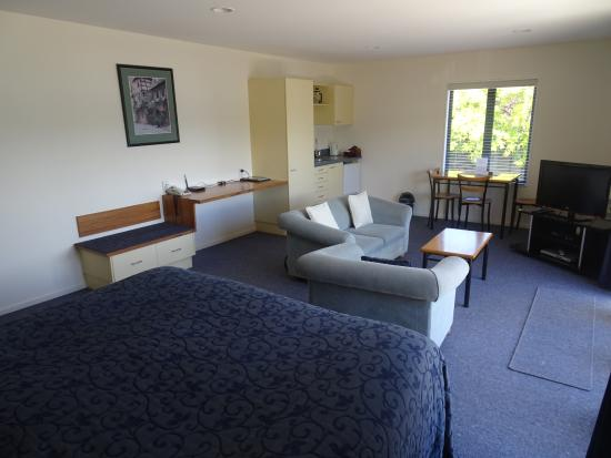 Akaroa Criterion Motel: Another view of apartment showing kitchenette