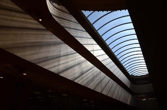 Marin Center: Slanted Light Through Skylights