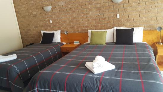 Mountain View Motor Inn & Holiday Lodge: huge and comfortable bedding that guarantees a sound sleep after a tiring day of hiking at the m