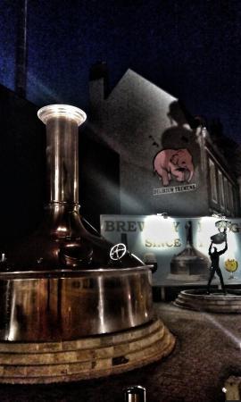 East Flanders Province, Belgia: Вид на пивоварню с улицы