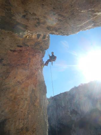 Bureau des Guides de Canyon : Rappel de pro