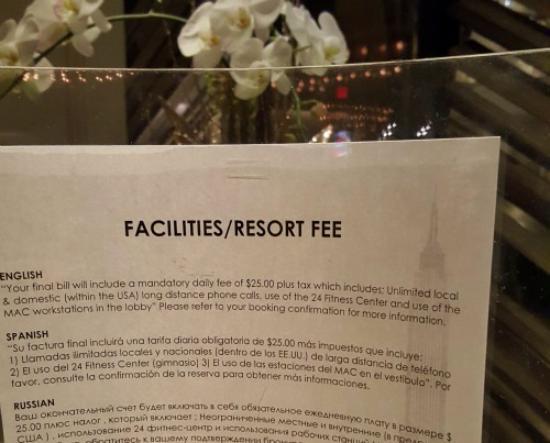 Paramount Hotel New York Resort Fee