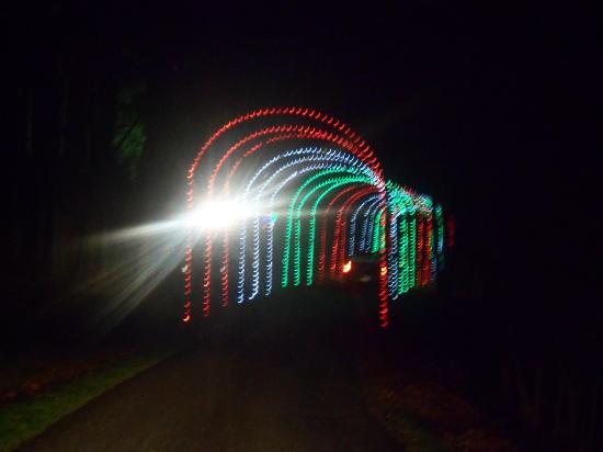 oglebay park entering a tunnel - Oglebay Park Christmas Lights