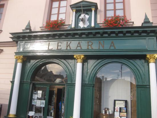Klatovy, Tschechien: Alte Apotheke