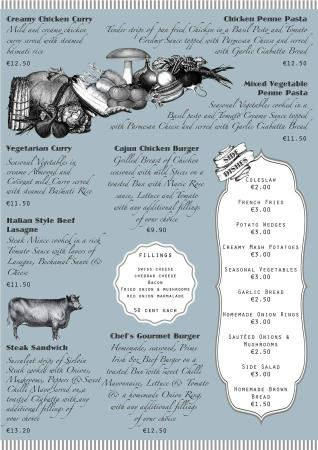 Claremorris, ไอร์แลนด์: Take away menu page 2