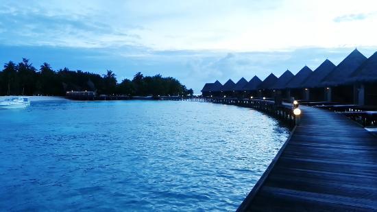 Thulhagiri Island Resort: Early morning view of the resort