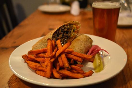 The Hyde Away Restaurant: Braised Beef Brisket Wrap