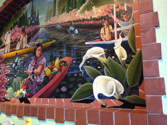 mural on interior wall Picture of Mi Casa Mexican Restaurant