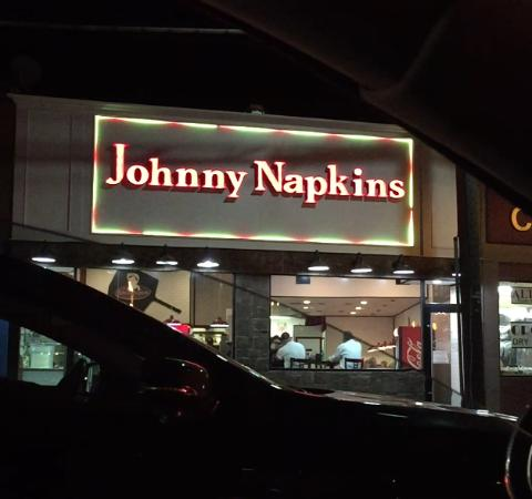 Union, Nueva Jersey: Front sign of Johnny Napkins